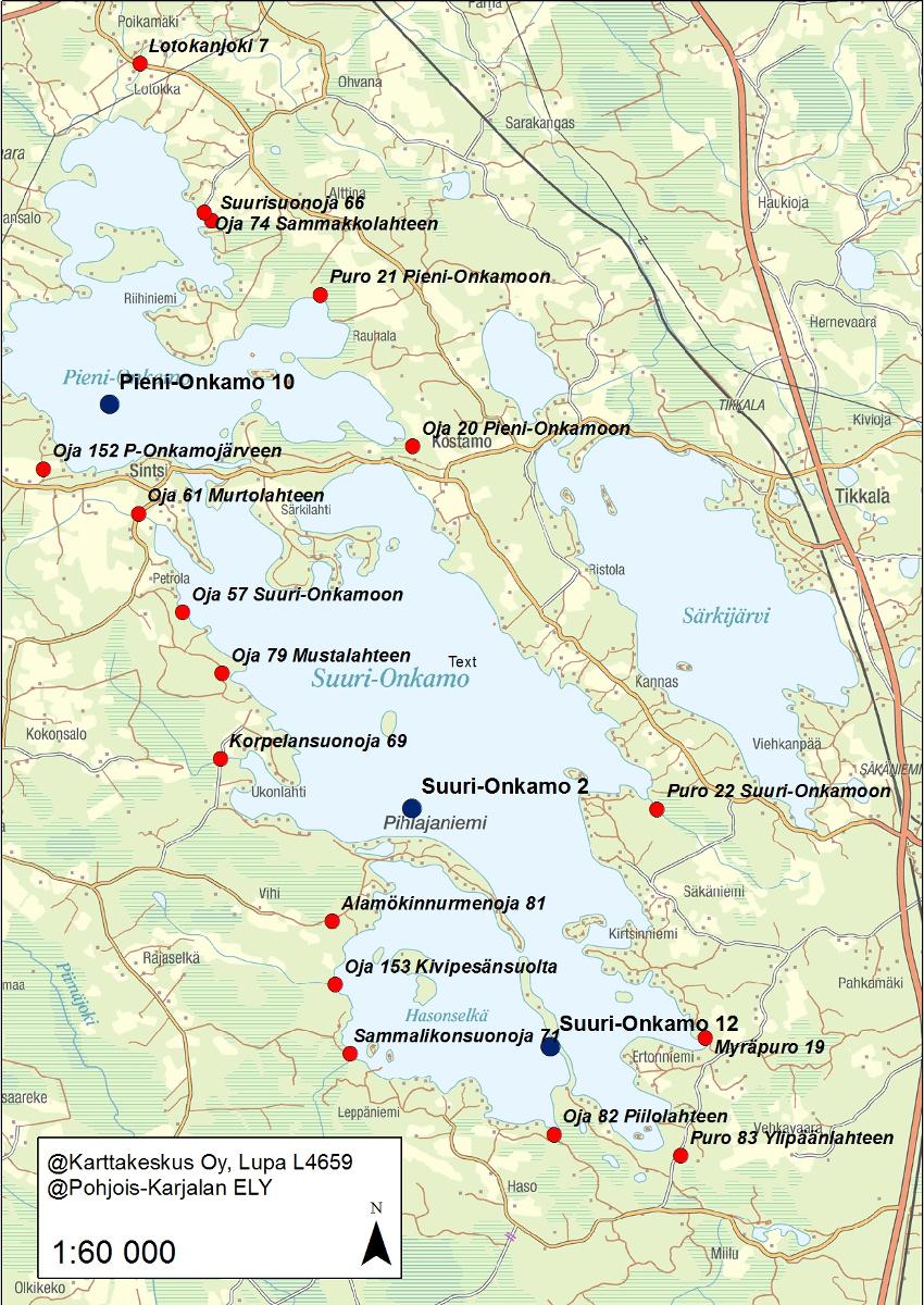 Tohmajärvi Kartta